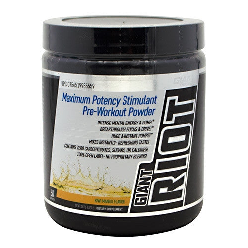 Giant Sports Products Giant Riot - Kiwi Mango - 30 Servings - 756519985559