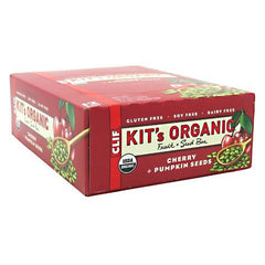 Clif Kits Organic Fruit + Seed Bar - Cherry + Pumpkin Seed - 12 Bars - 722252343222