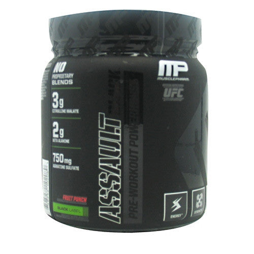 Muscle Pharm Black Series Assault Black - Fruit Punch - 12.27 oz - 748252102089