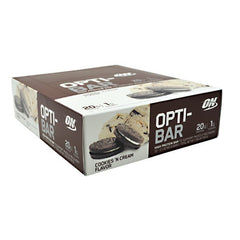 Optimum Nutrition Opti-Bar - Cookies n Cream - 12 Bars - 748927952827