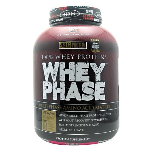 4 Dimension Nutrition Whey Phase - Strawberry - 5 lb - 856036003023