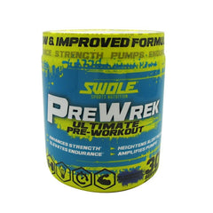 Swole Pre Wrek - Blueberry Pomegranate - 30 Servings - 728028392586