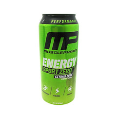 MusclePharm Energy Sport Zero - Citrus Edge - 12 Cans - 199625290238