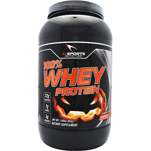 AI Sports Nutrition 100% Whey Protein - Pumpkin Pie - 1.95 lb - 804879552437