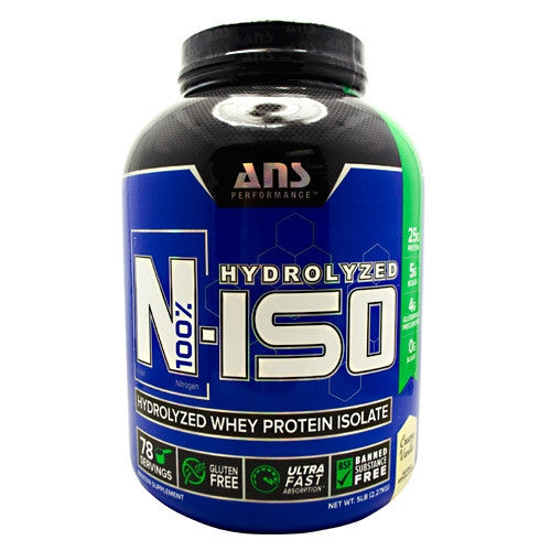 ANS Performance N-ISO 100% Hydrolyzed Whey Protein Isolate - Vanilla - 5 lbs - 638037635683