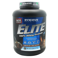 Dymatize Elite Whey - Chocolate Cake Batter - 5 lb - 705016560134