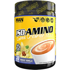 MAN Sports Coffee Creamer Bliss Iso-Amino - French Vanilla - 30 Servings - 853360006614