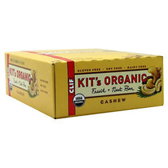 Clif Kits Organic Fruit + Nut Bar - Cashew - 12 Bars - 722252141217