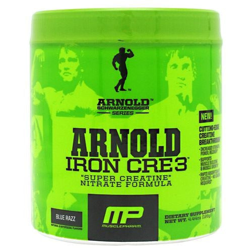 Arnold By Musclepharm Iron Cre3 - Blue Razz - 30 Servings - 696859258381