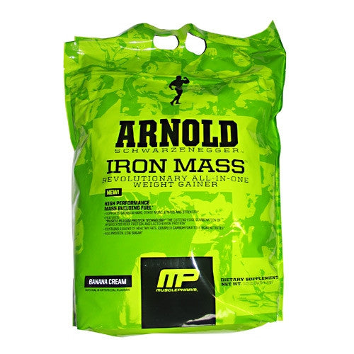 Arnold By Musclepharm Iron Mass - Banana Cream - 10 lb - 713757324212