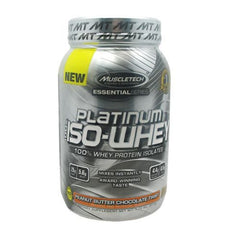 MuscleTech Essential Series 100% Platinum Iso-Whey - Peanut Butter Chocolate Twist - 1.79 lb - 631656705461