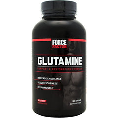 FORCE FACTOR Glutamine - 180 Capsules - 818594010943