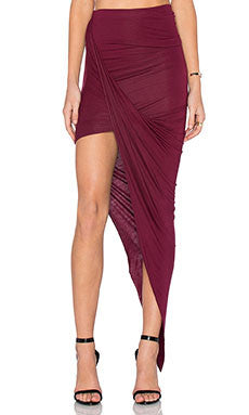 BLQ Basiq Wrap Skirt Burgundy