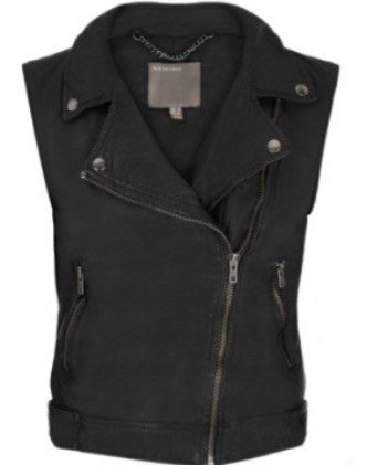 Muubaa Leather Moto Vest