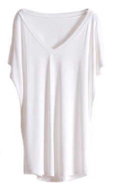 Basic V-Neck White