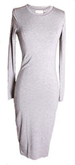 BLQ Basiq Long Sleeve 3/4 Dress Heather Grey