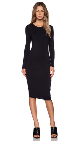 BLQ Basiq Long Sleeve 3/4 Dress Black