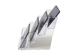 Four Slot Plastic Business Card Holder