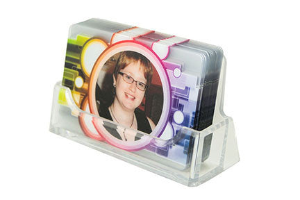 Single Slot Acrylic Plastic Business Card Holder