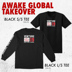 GLOBAL TAKEOVER BLACK LONG SLEEVE TEE FRONT