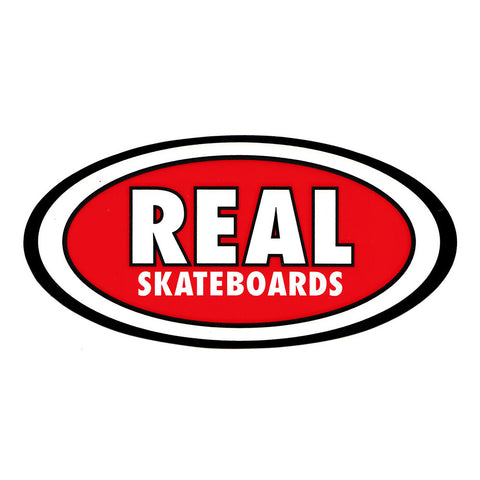 Real Oval Sticker