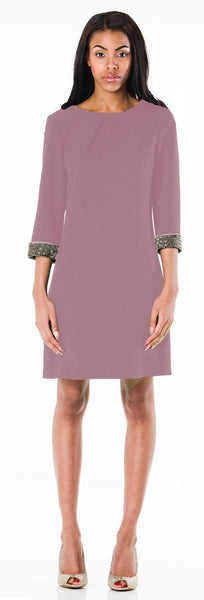Lafayette Shift Dress Blush - ABIODUN
