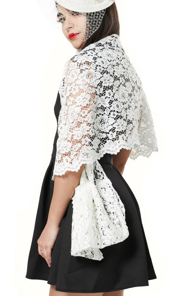 Multi WAY CORDED LACE LOOP SCARF/ EVENING WRAP