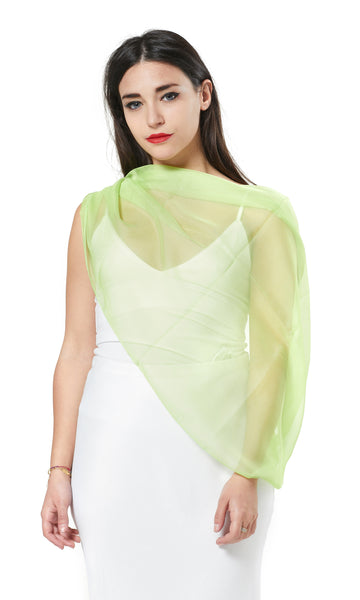MULTI-WEAR CHIFFON INFINITY SCARF - BOTTLE GREEN