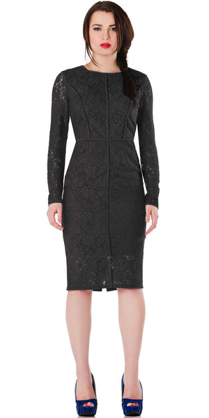 Regency Dress Black - ABIODUN  - 1