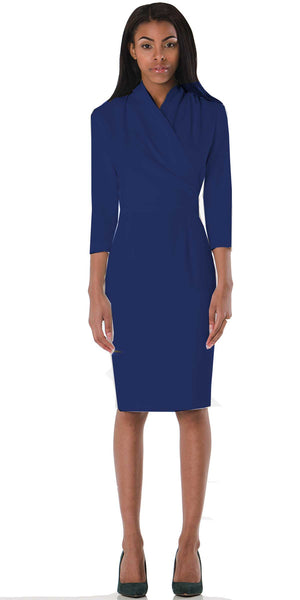 Royal Blue Washington Dress - ABIODUN  - 1