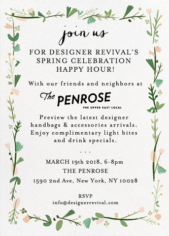 designer revival penrose happy hour spring celebration