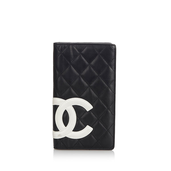 Black Chanel Cambon Ligne Long Wallet