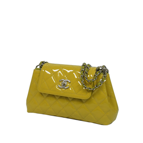 Yellow Chanel Patent Leather Shoulder Bag