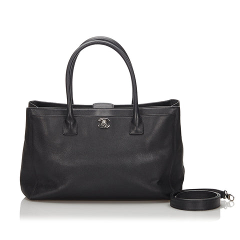 Black Chanel Caviar Leather Executive Cerf Tote Bag