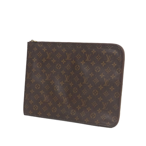 Brown Louis Vuitton Monogram Poche Documents Portfolio Bag