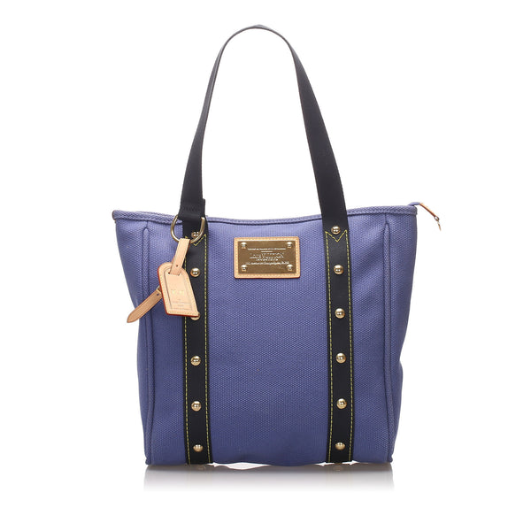 Blue Louis Vuitton Antigua Cabas MM Bag
