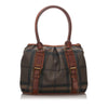 Brown Burberry Smoke Check Northfield Tote Bag