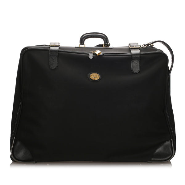 Black Burberry Leather Travel Bag