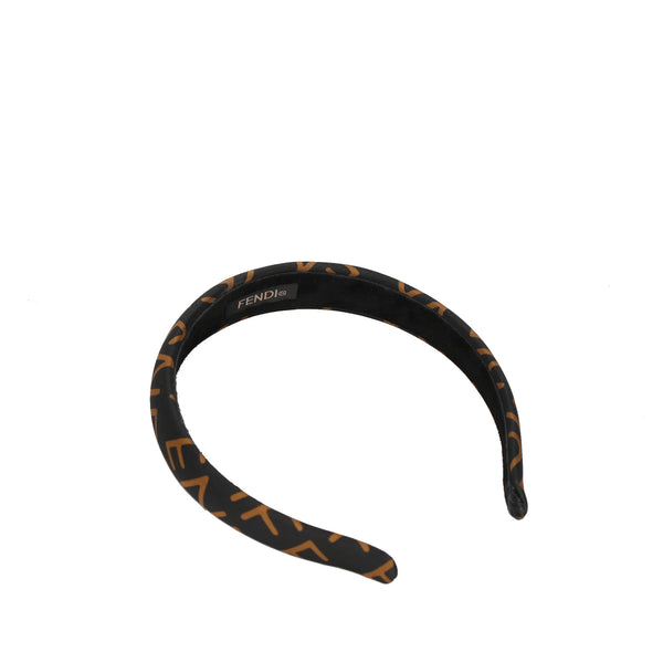 Brown Fendi Nylon Headband