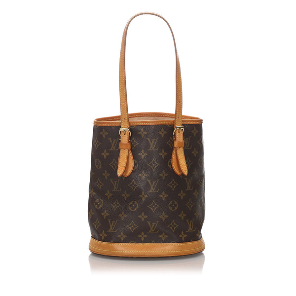 Brown Louis Vuitton Monogram Petit Bucket Bag