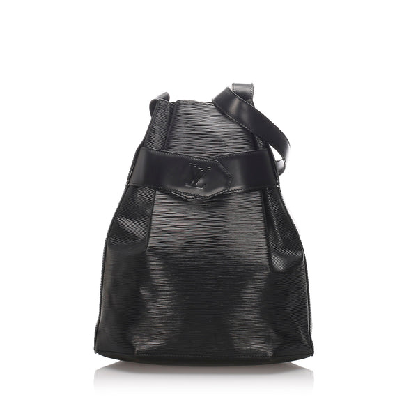 Black Louis Vuitton Epi Sac dEpaule Bag
