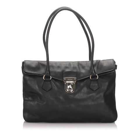 Black Prada Leather Easy Shoulder Bag