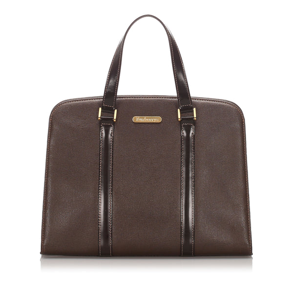 Brown Burberry Leather Handbag Bag