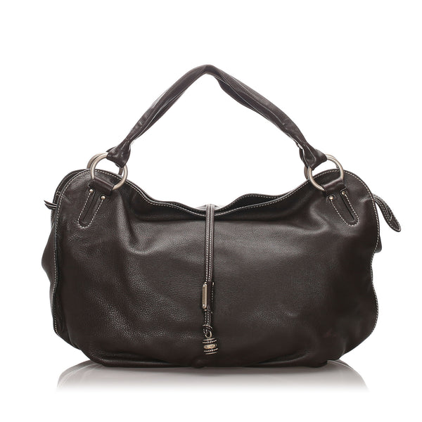 Brown Celine Leather Bittersweet Hobo Bag