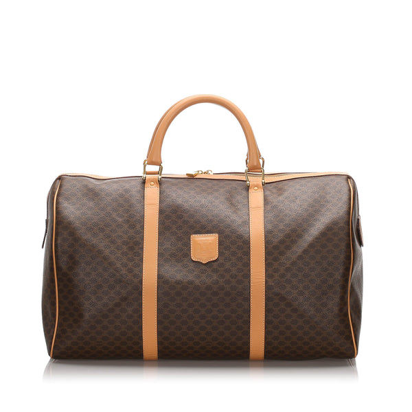 Brown Celine Macadam Travel Bag