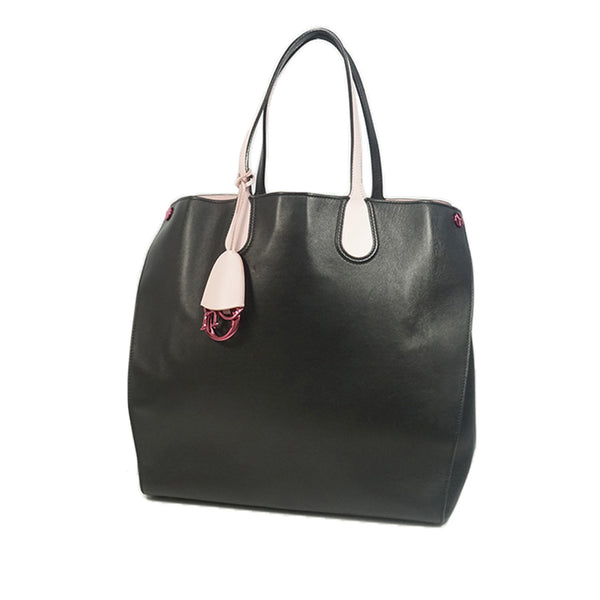 Black Dior Leather Addict Tote Bag