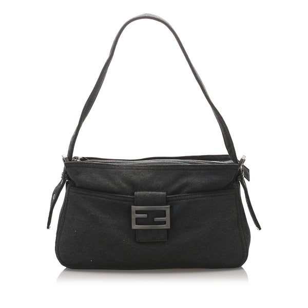 Black Fendi Cotton Baguette