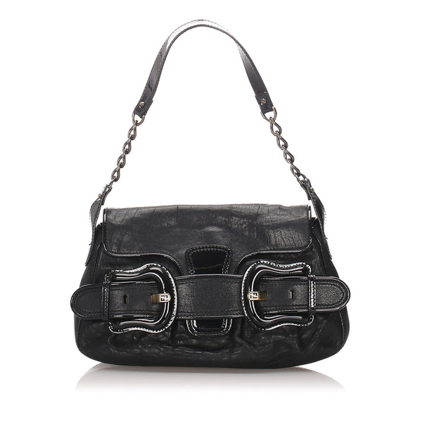 Black Fendi Leather B Bis Bag