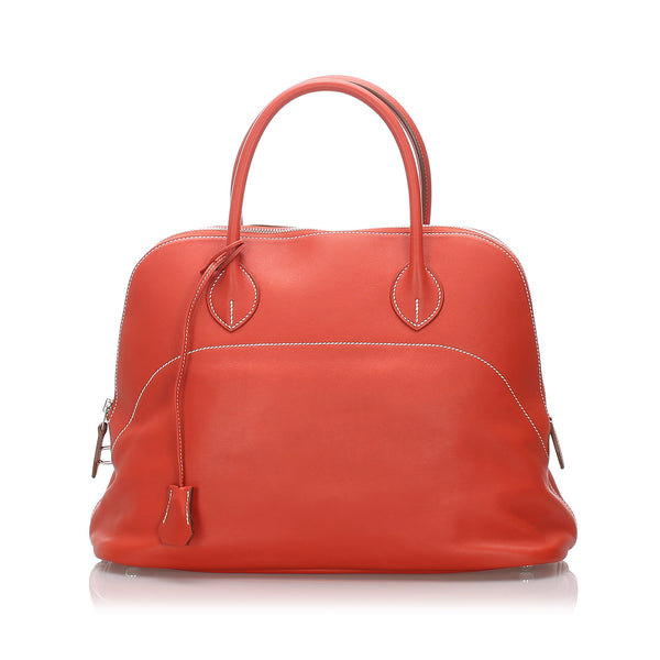 Orange Hermes Bolide 35 Bag