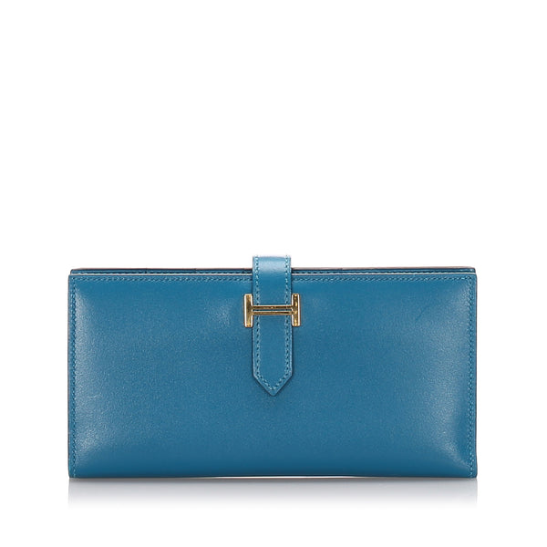 Blue Hermes Swift Bearn Wallet